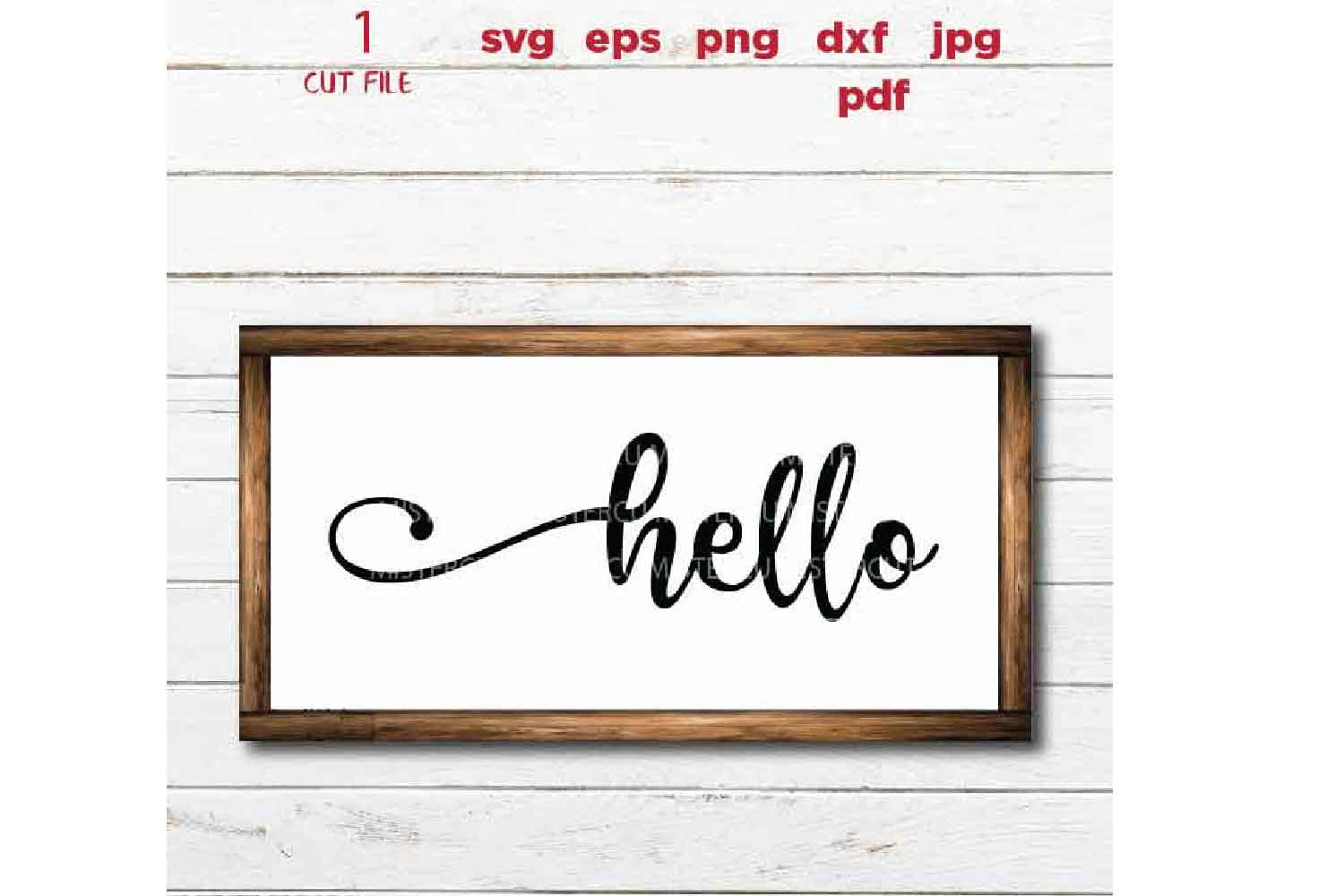 svg files, hello svg, welcome sign cut file, dxf, jpg transf example image 2