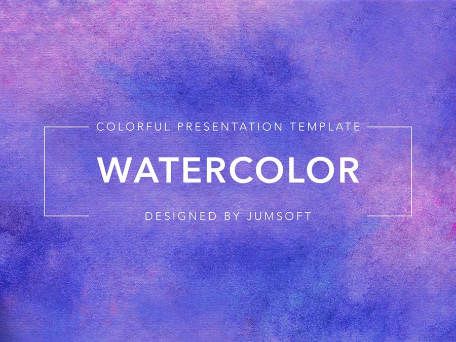 Watercolor PowerPoint Template example image 4