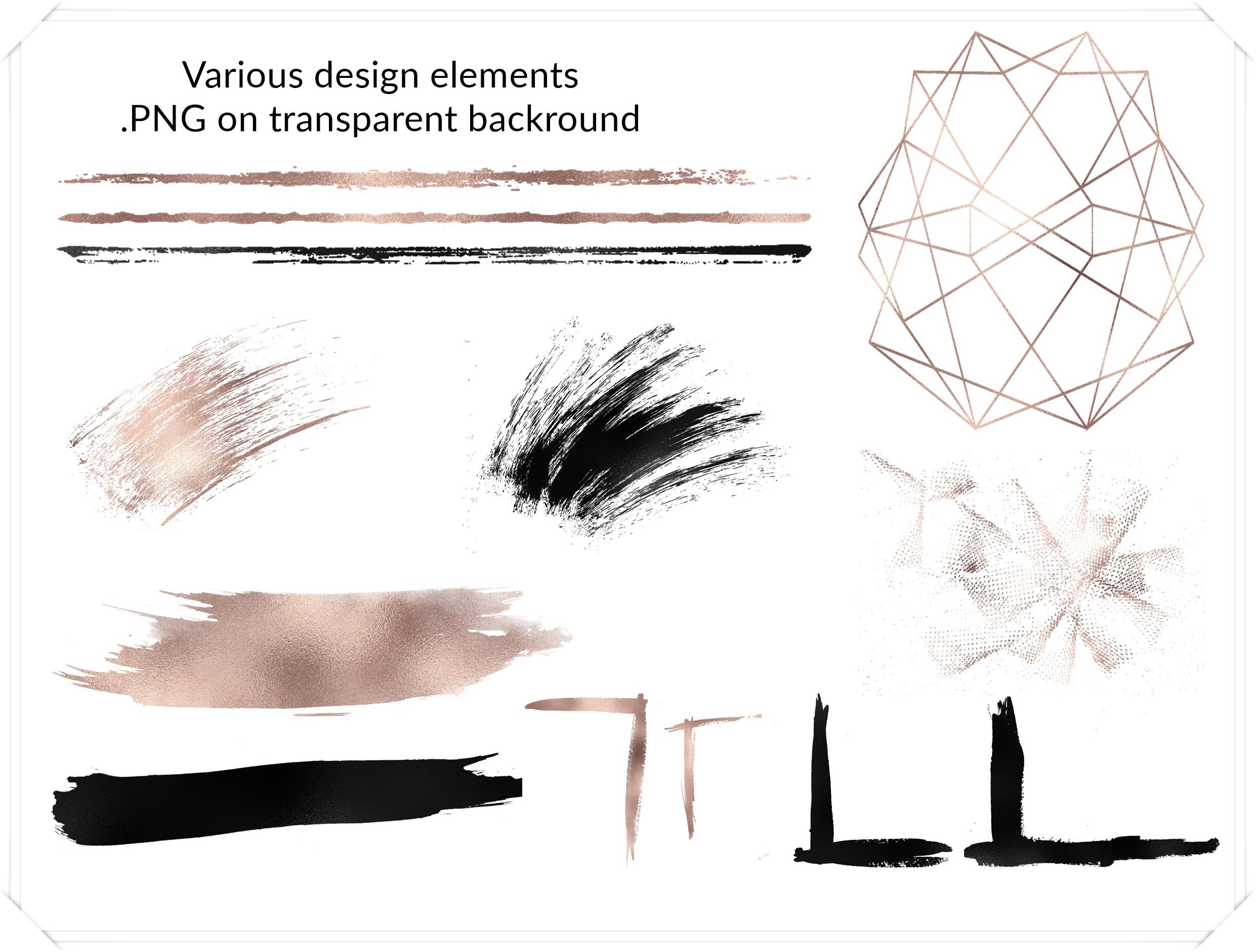 Luxury Design Bundle - Rose Gold and Black example image 3