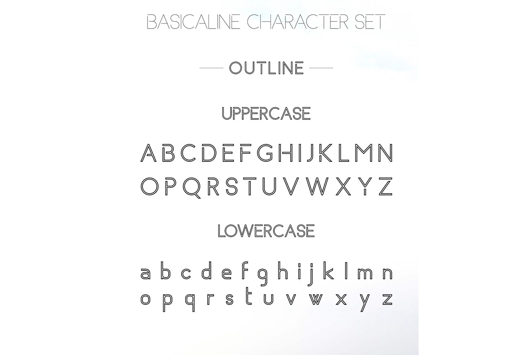 Basicaline Font Family - Sans Serif example image 16