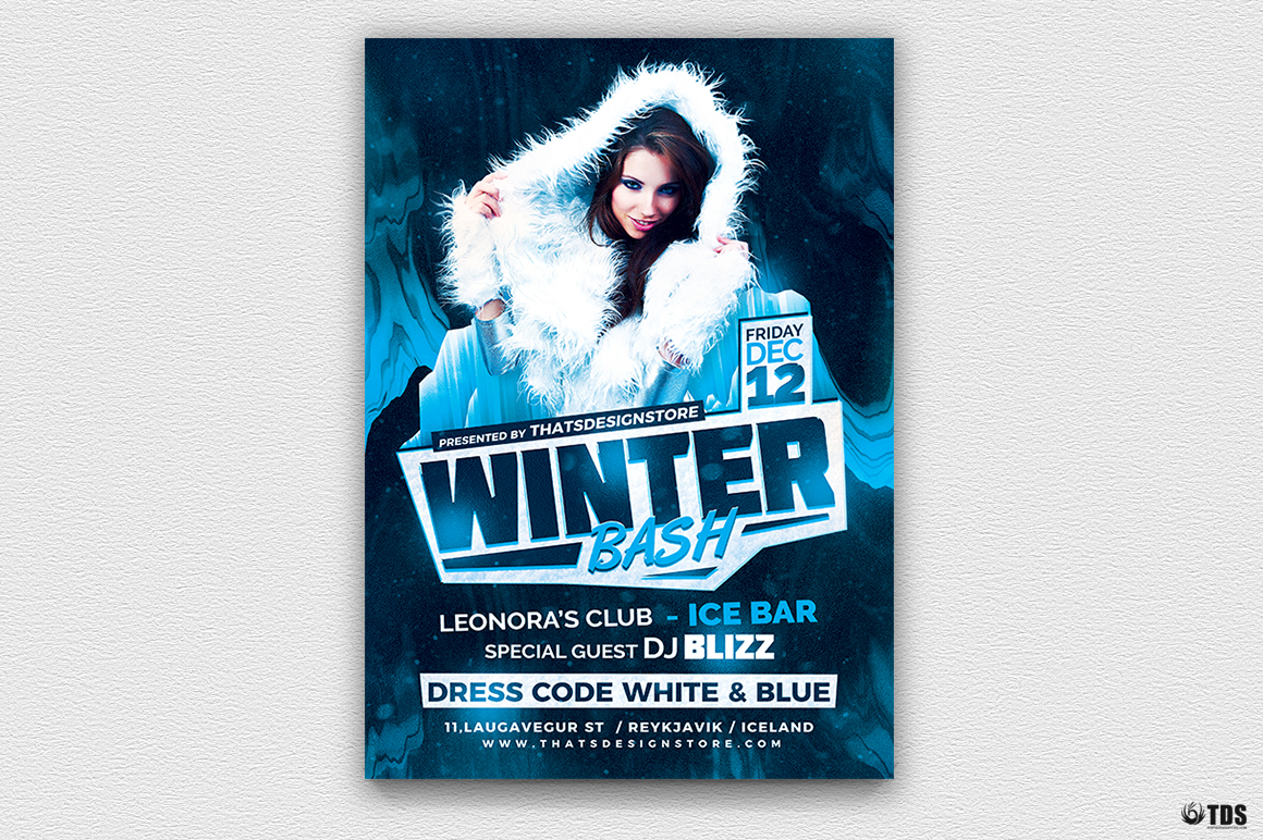 Winter Bash Flyer Template V3 example image 2