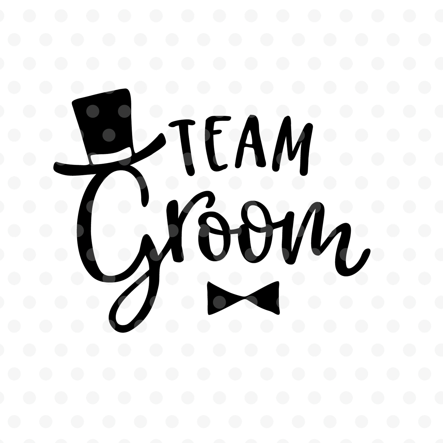 Team Groom wedding SVG, EPS, PNG, DXF example image 2