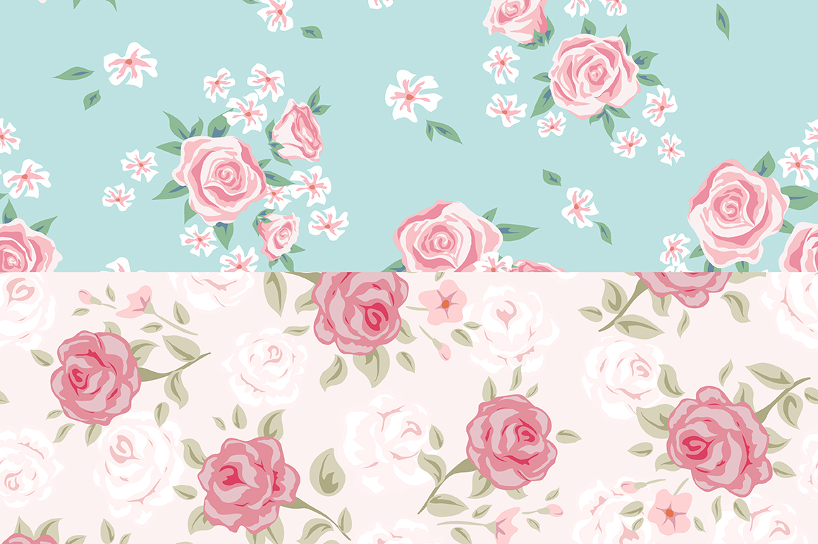 Vintage roses patterns example image 4