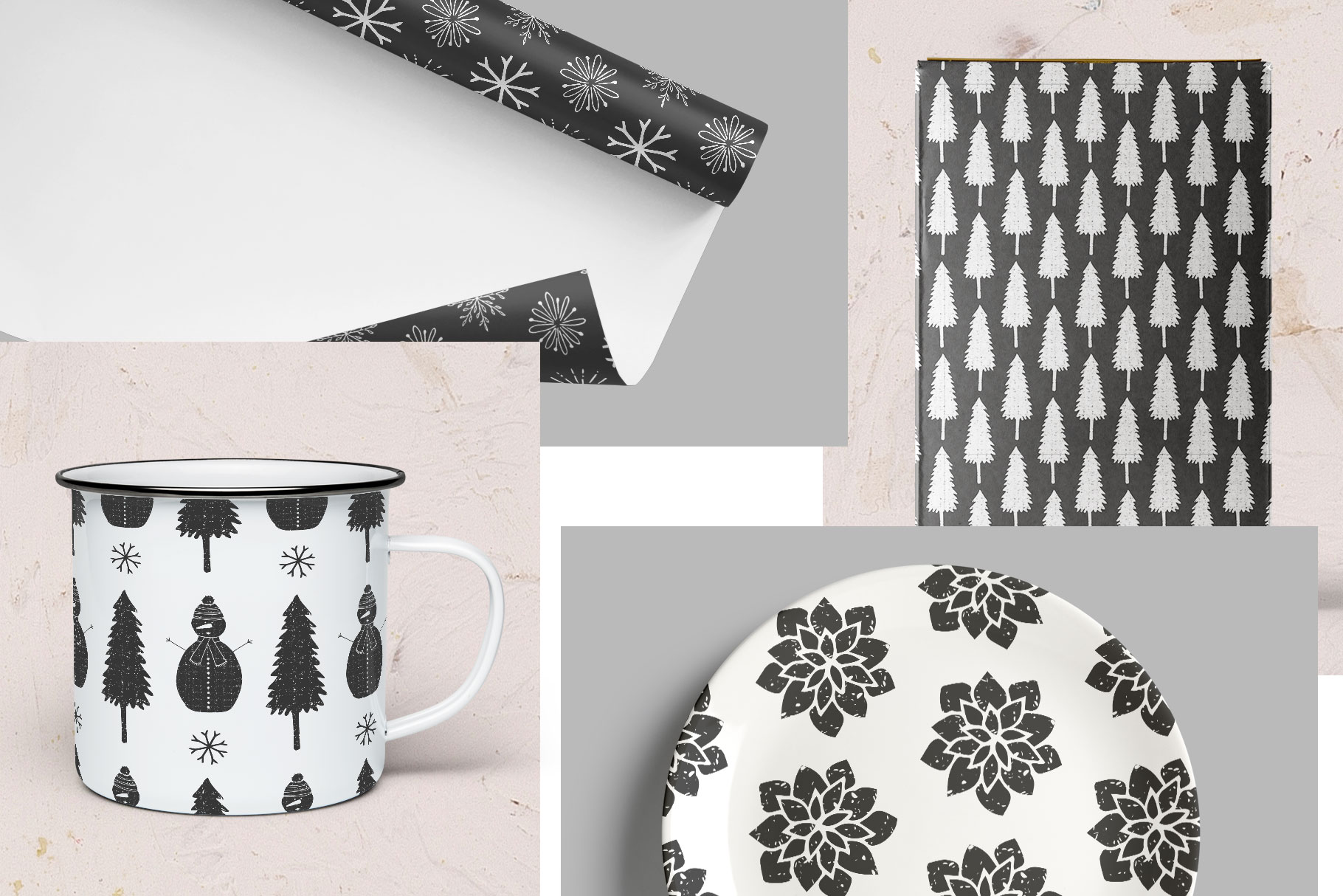 Scandinavian Christmas Patterns example image 3
