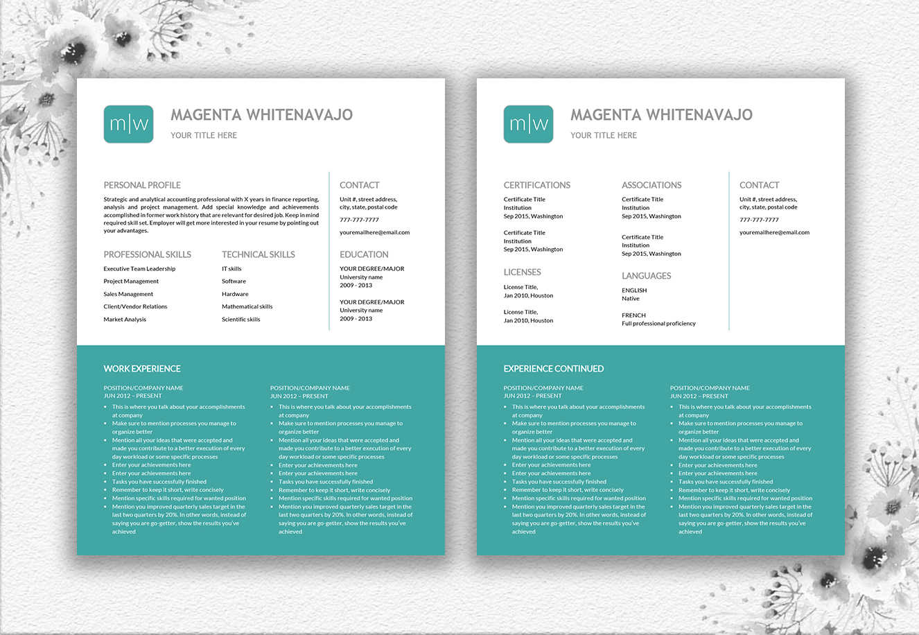 Resume Template Design example image 5