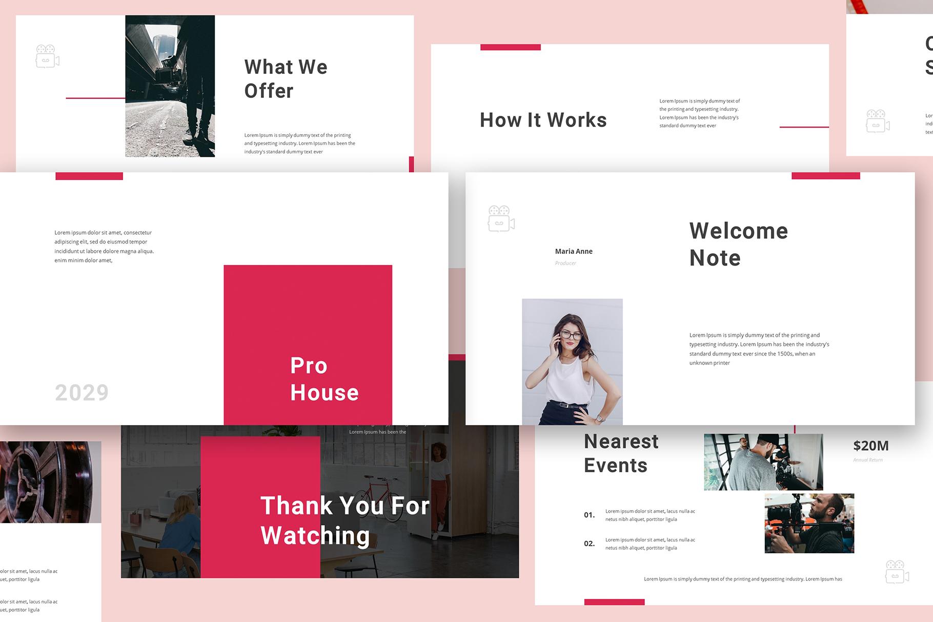 Production House Google Slides example image 3