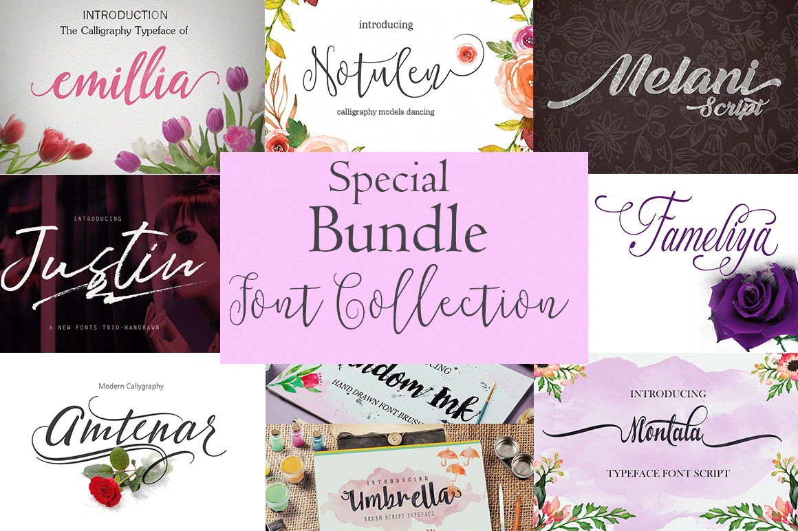 Special Bundle-Font Collection example image 1