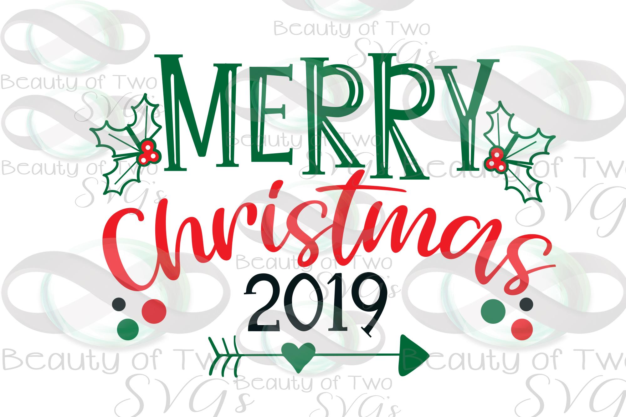 Merry Christmas 2019 Ornament svg, Christmas svg, Ornament example image 2