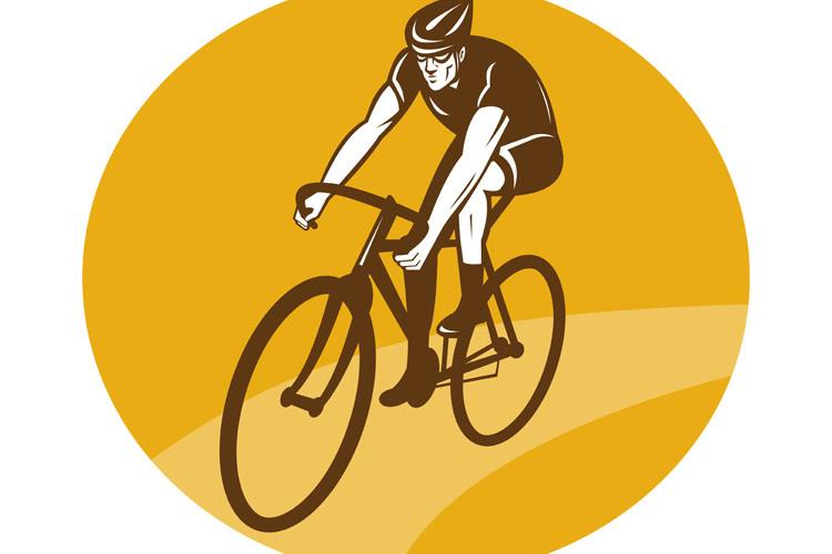 Cyclist riding racing bike example image 1