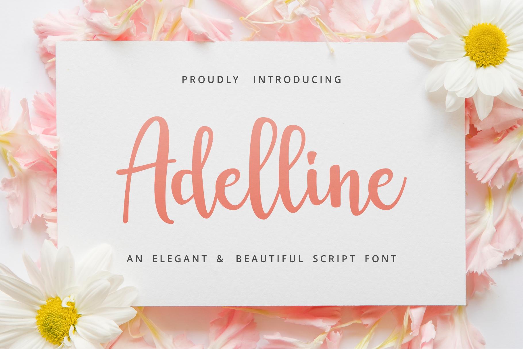 Adelline | beautiful elegant font example image 9