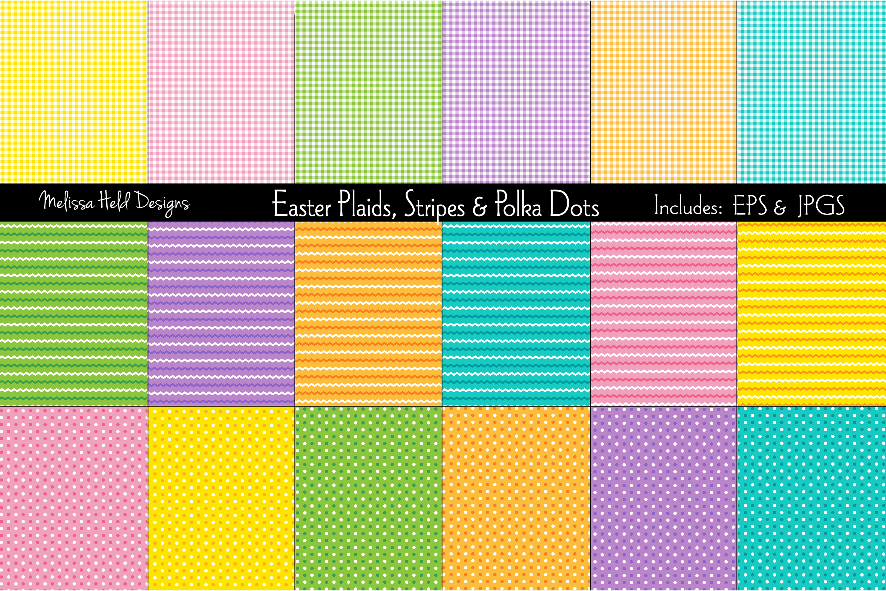 Easter Plaids, Stripes & Polka Dots example image 1
