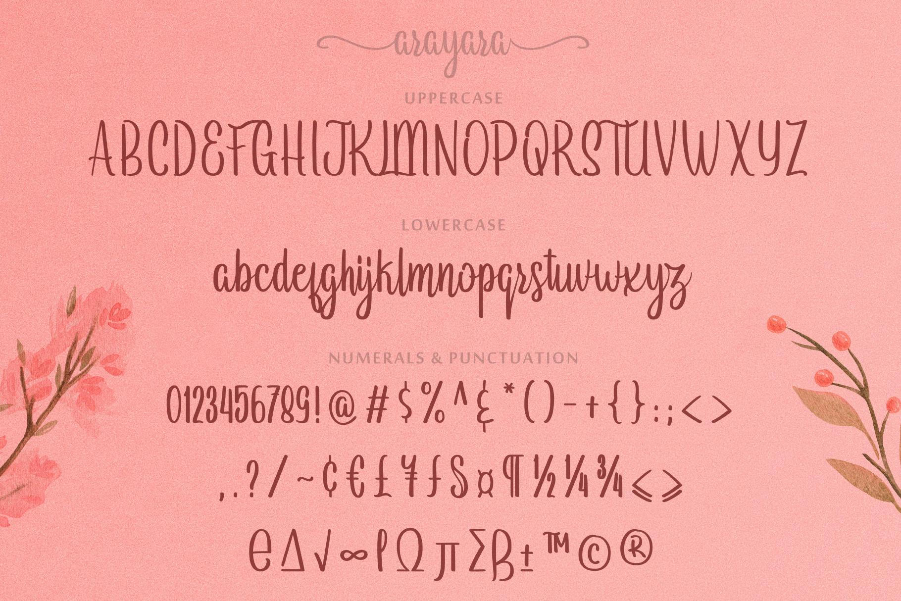 Arayara Script Font example image 5