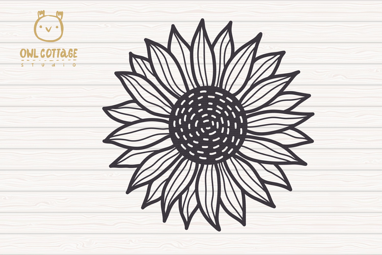Cute Sunflower svg, Sunflower svg, Sunflower clipart