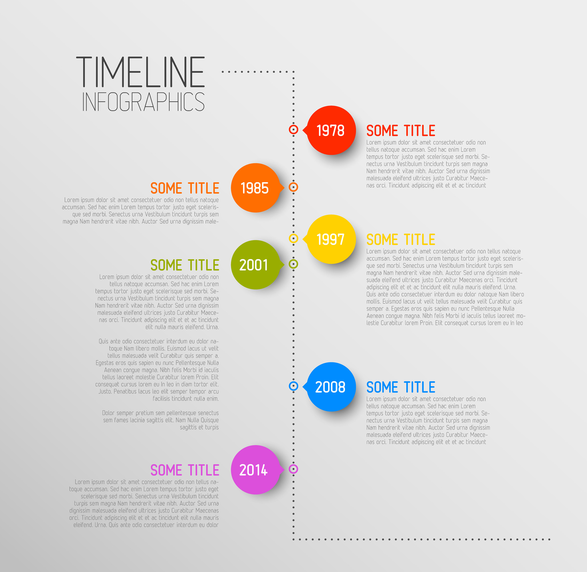 Infographic Timeline Templates Bundle example image 4