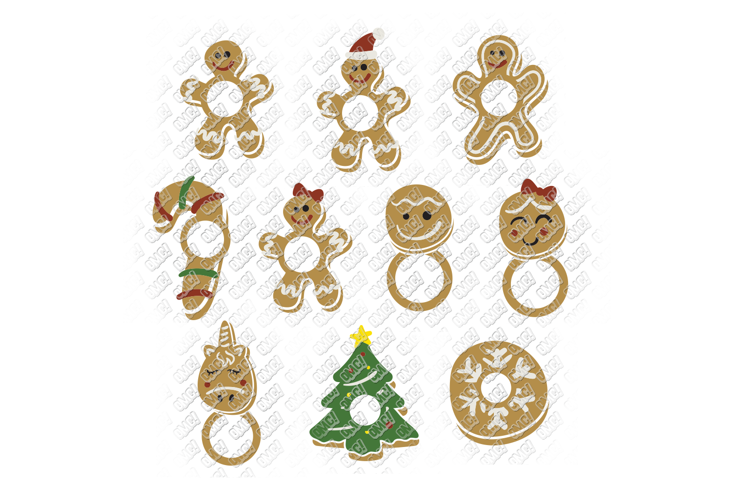 Christmas Cookies SVG Bundle in SVG, DXF, PNG, EPS, JPEG example image 5