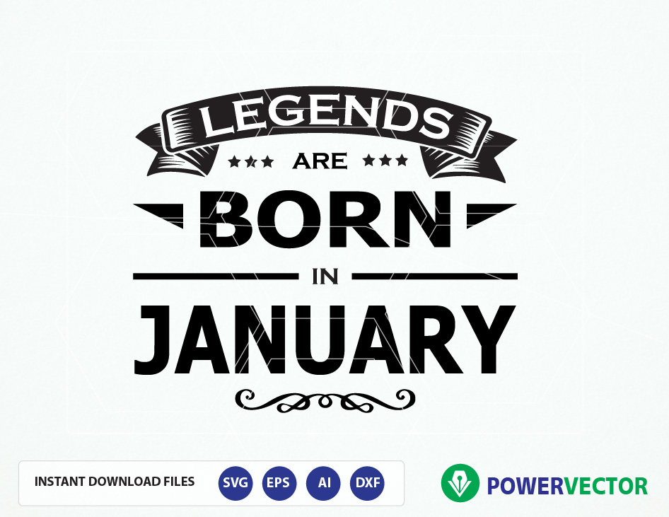 Legends are born in months T-shirt design Svg Cut Files example image 1