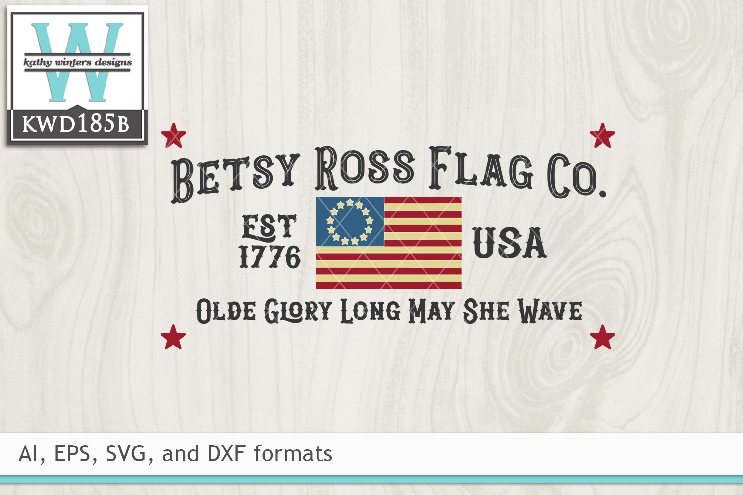 Patriotic SVG - Betsy Ross Flag Company example image 2