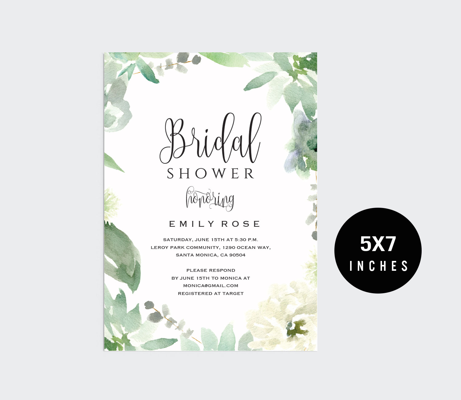Bridal Shower Invitation Template example image 3