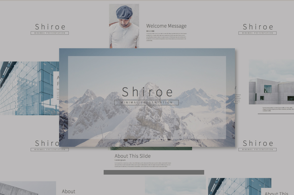 Shiroe Powerpoint Template example image 1