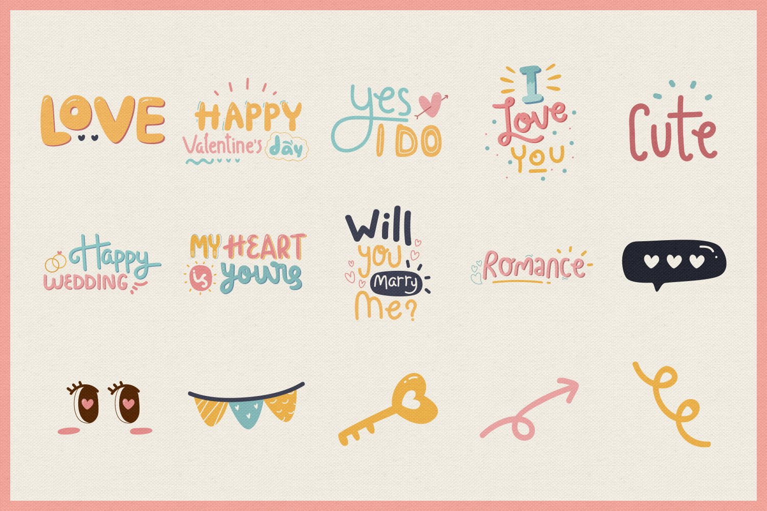 Romance Vector Clipart example image 4