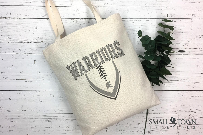 Warrior Football, Team, Sports, Logo, PRINT, CUT & DESIGN example image 3