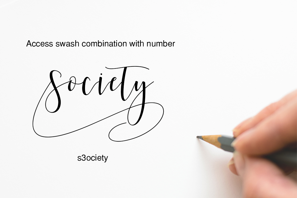 Society Calligraphy Modern example image 2