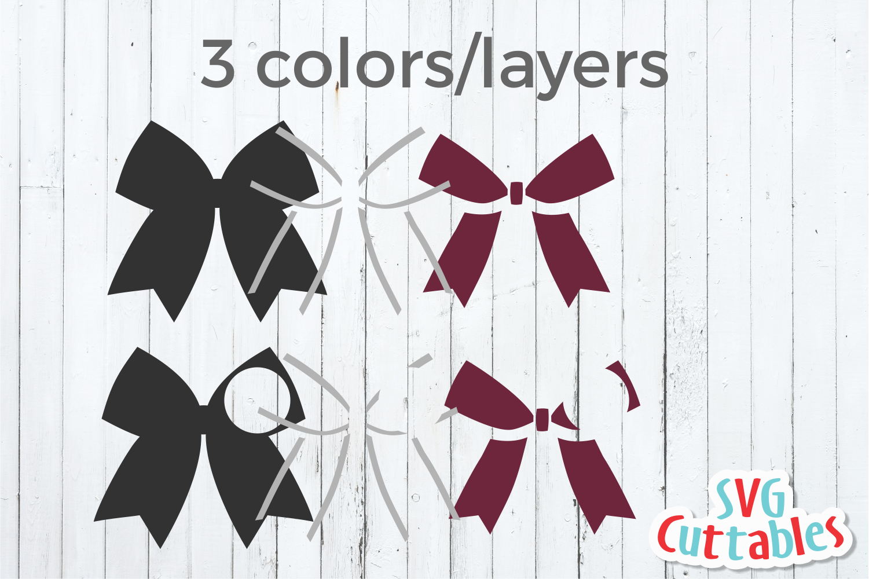 Cheer Bow | Cheerleader Monogram Frame | SVG Cut File example image 2