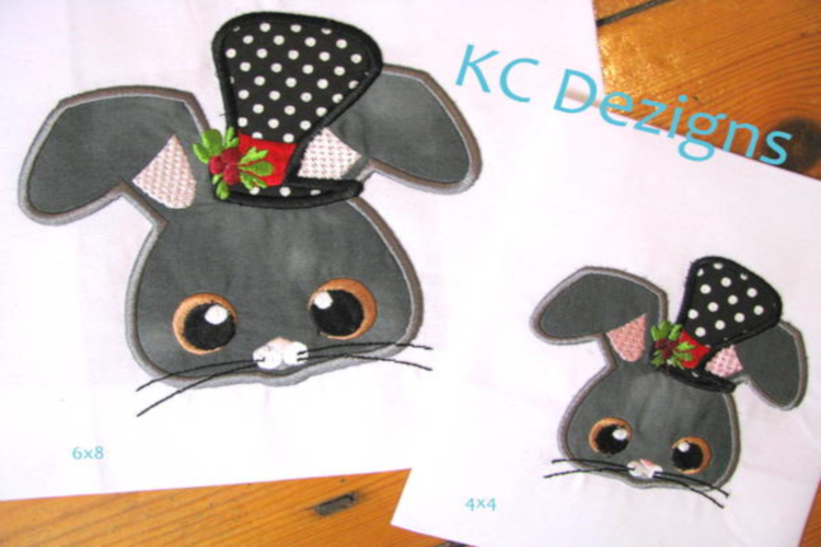 Christmas Critter Mouse With Top Hat Machine Applique Design example image 1