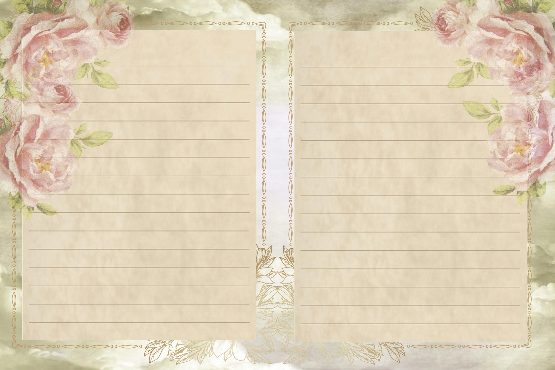 Journaling scrapbooking printable backgrounds with ephemera example image 7