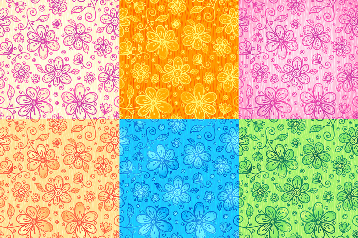 24 vector floral backgrounds example image 3
