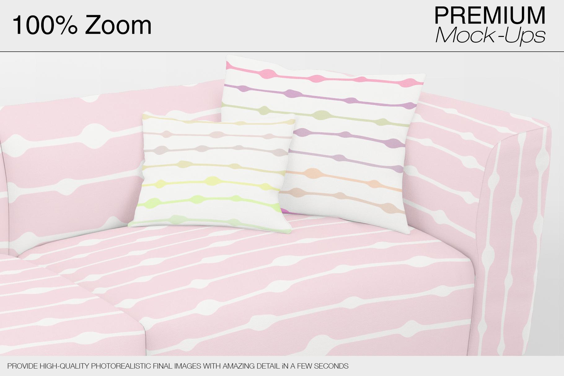 Sofa & Pillows Mockup Pack example image 10
