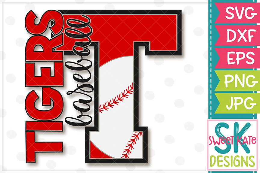T Tigers Baseball SVG DXF EPS PNG JPG example image 2