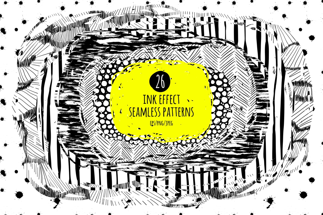 26 ink effect seamless patterns example image 1