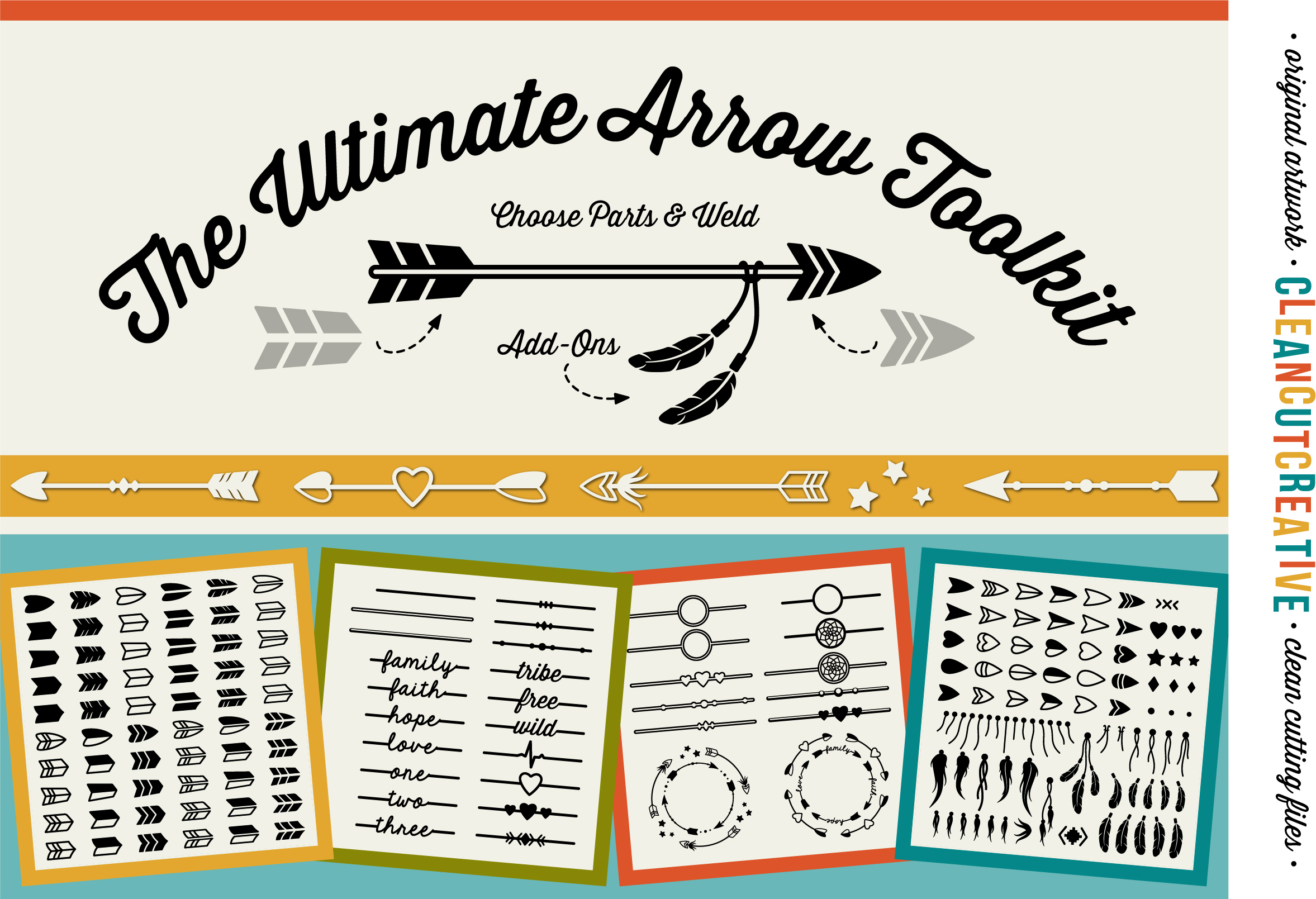 The Ultimate ARROW TOOLKIT - DIY Arrows SVG DXF EPS PNG file example image 1