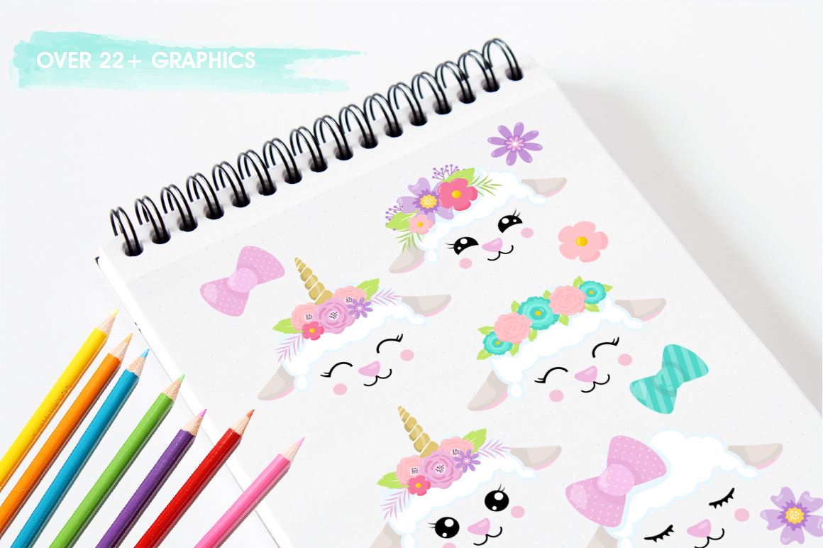 Kawaii Spring Lambs graphic and illustrations example image 3