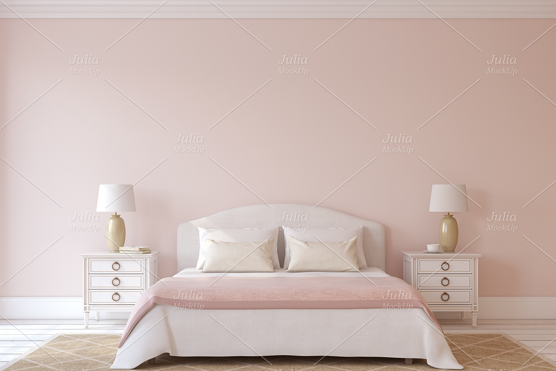Pink Interiors. Frames&Canvases Mockup. example image 8