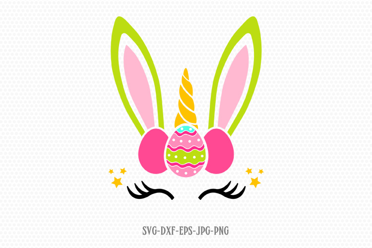 easter bunny unicorn svg example image 1