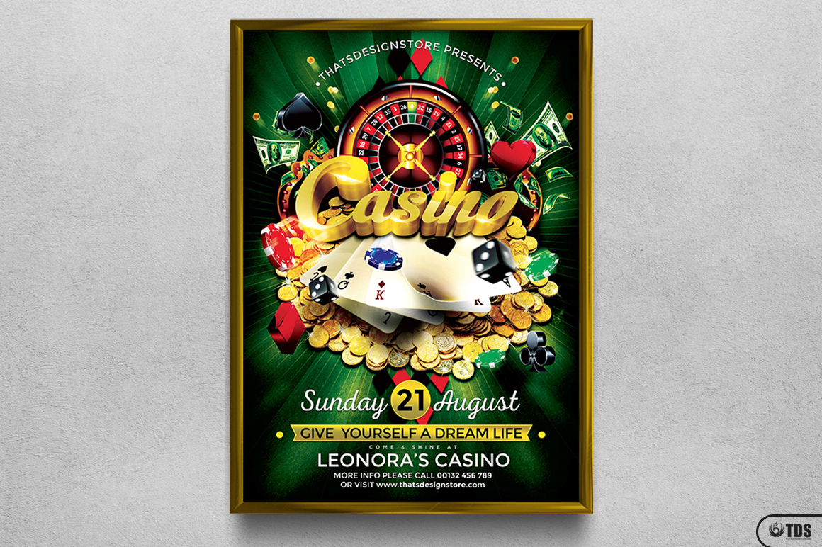 Casino Flyer Template V1 example image 6