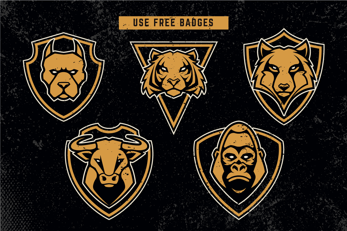 Animals Mascot Icons Vector Set example image 8