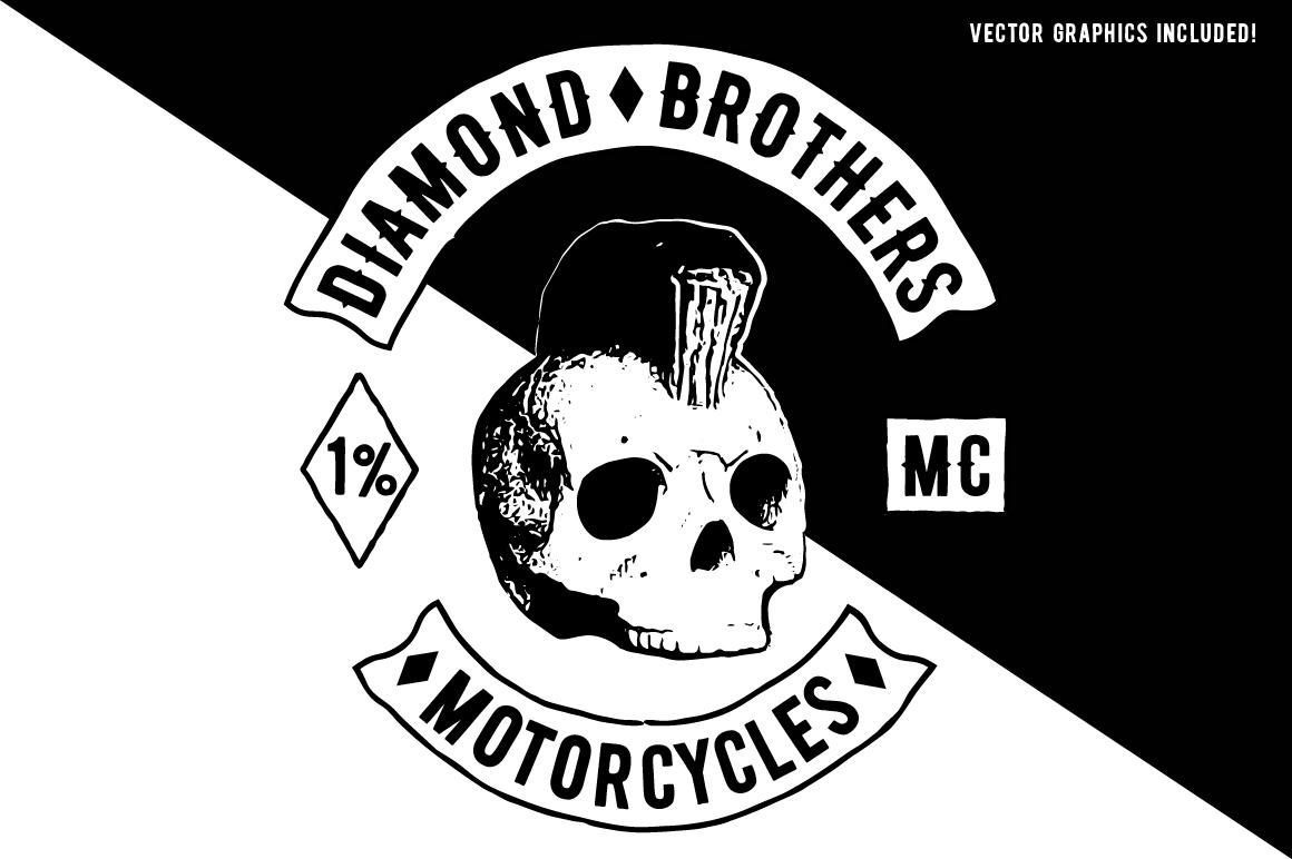 Biker Diamond Typeface example image 3