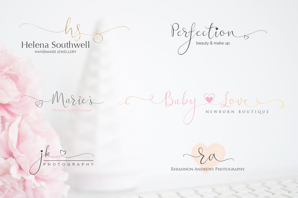 iHeart it wedding font example image 5