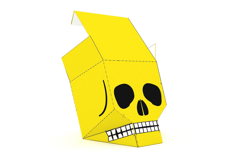 DIY Skull favor - 3d papercraft example image 4