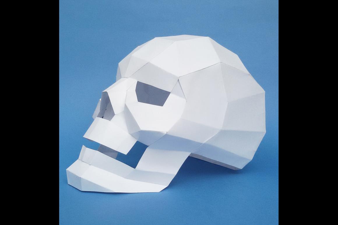 DIY Paper Skull - 3d papercraft example image 2