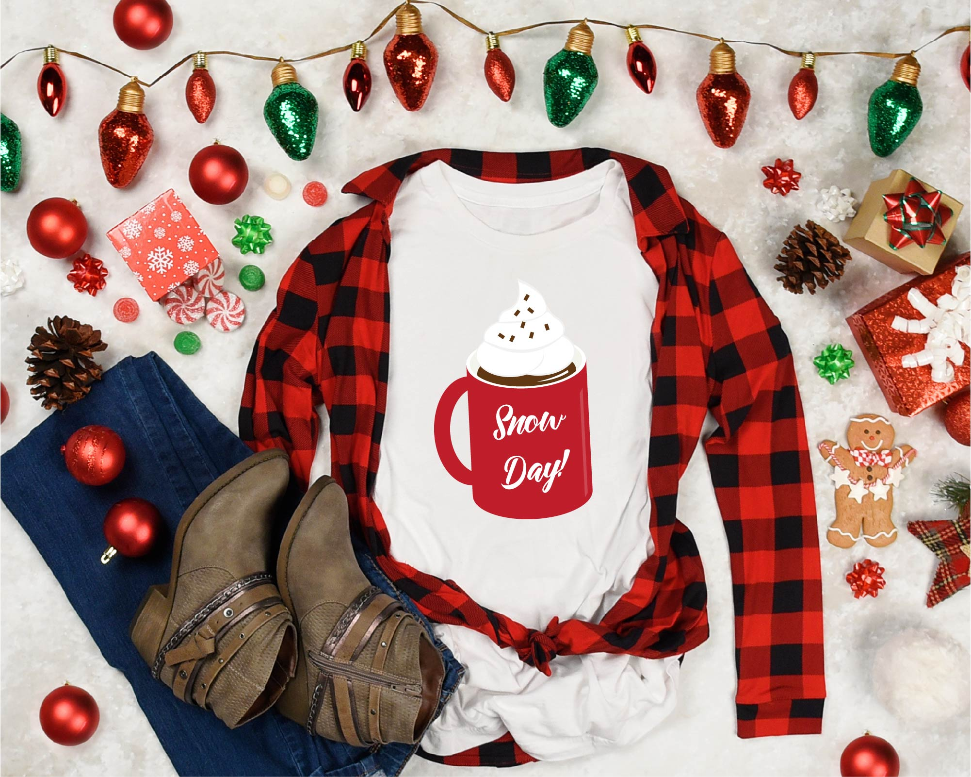 Hot Cocoa Bundle SVG, Sublimation, Cookies SVG, Snow Day example image 4