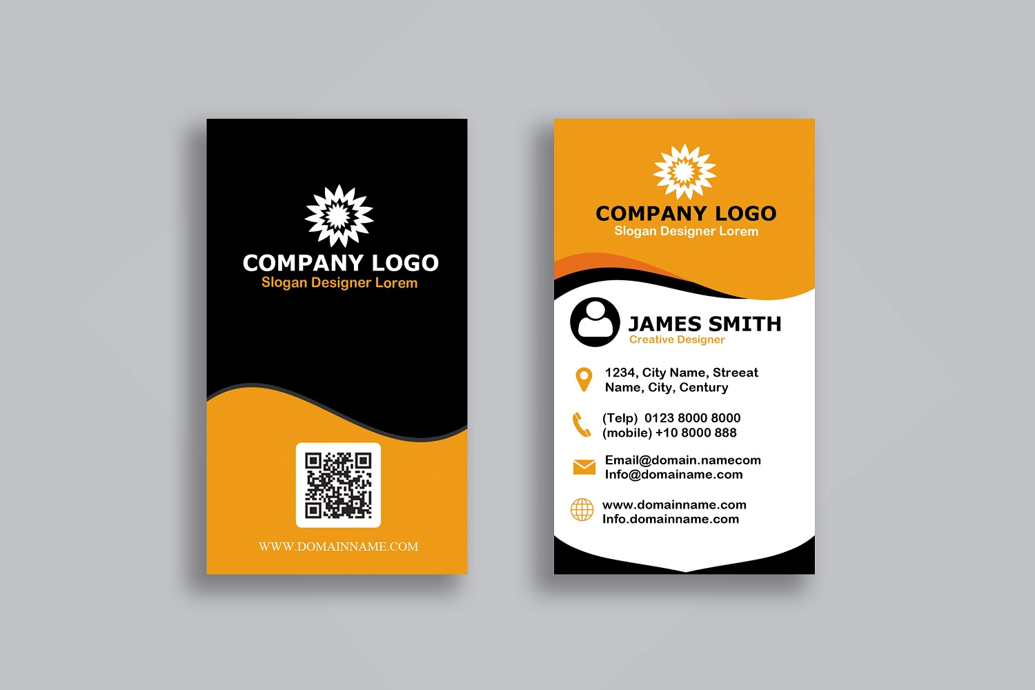 Vertical Modern Business Card example image 3