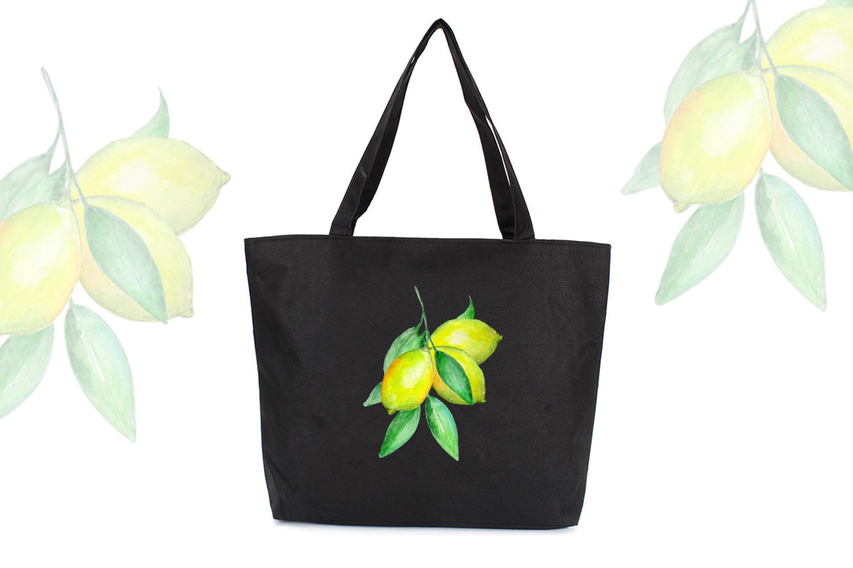 Watercolor Lemon Clipart, Tropical Fruit example image 8