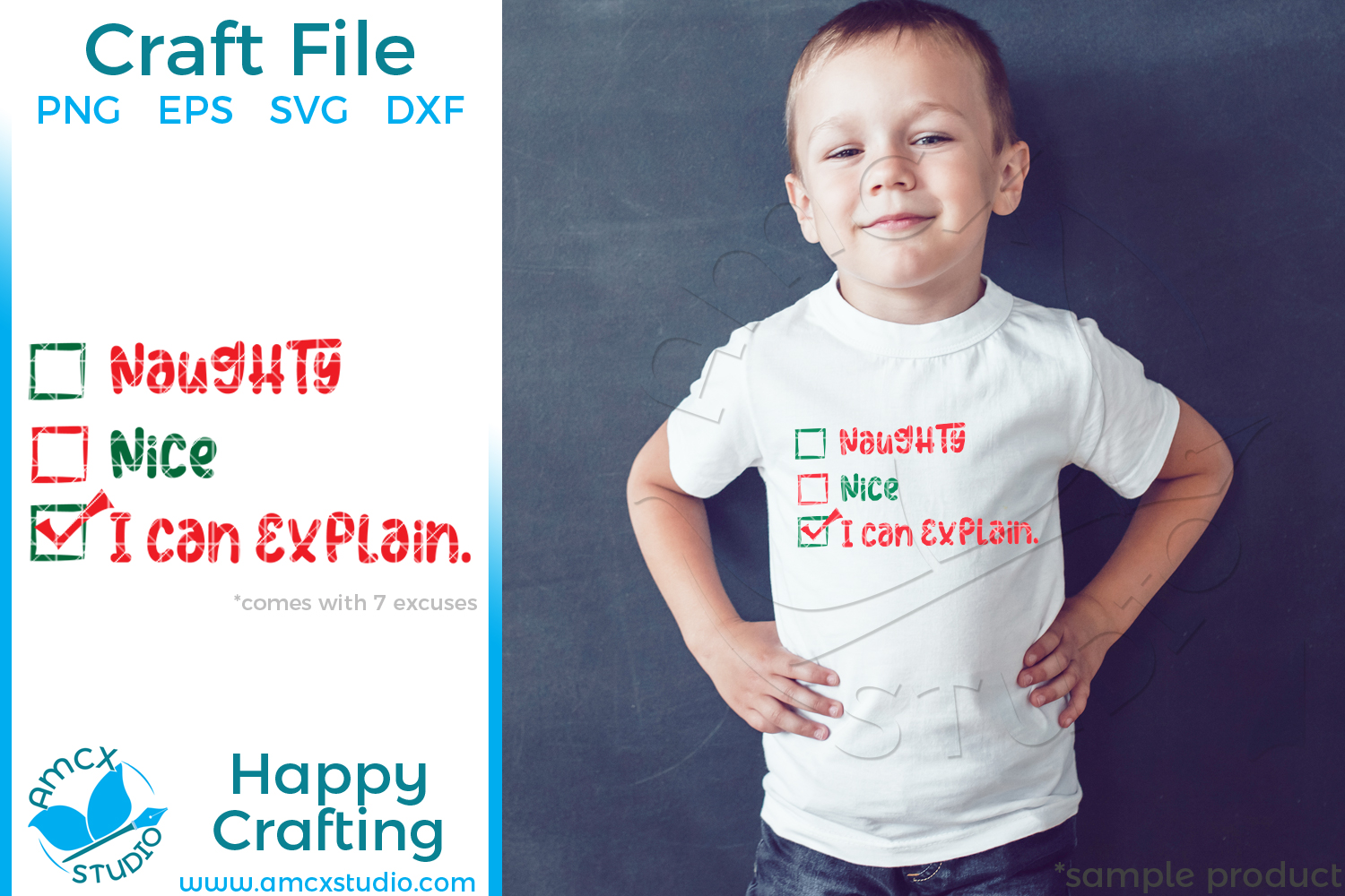 Naughty, Nice, What can I say? SVG Christmas Files example image 1