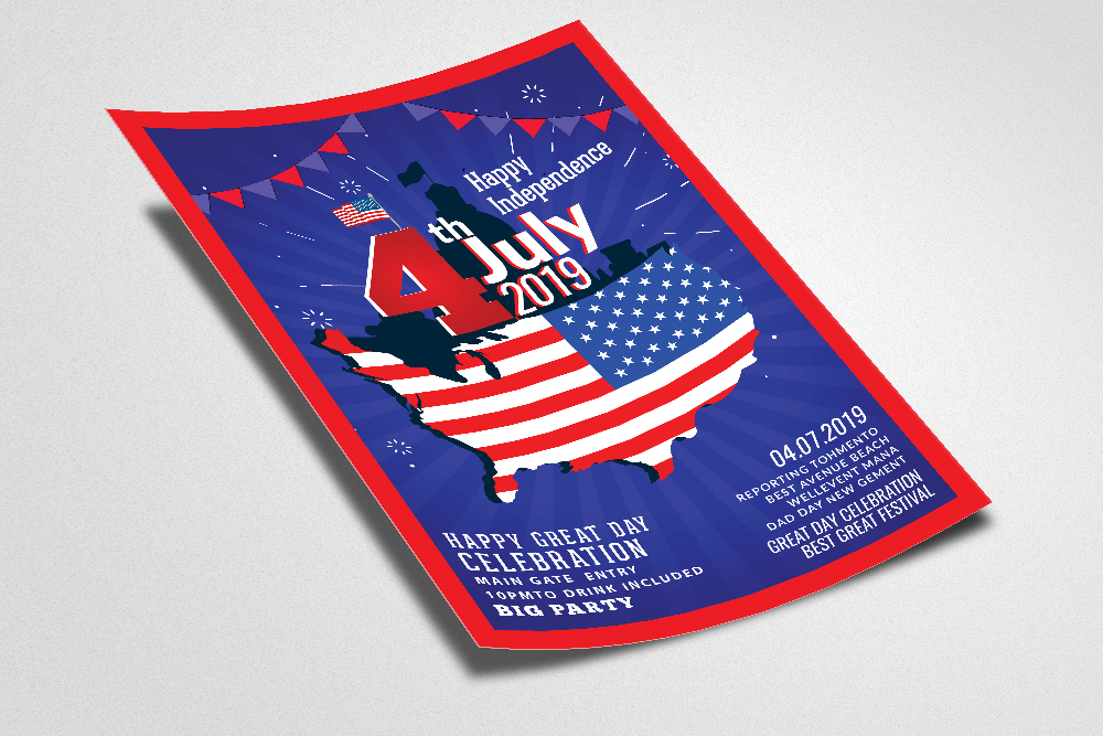 4th of July | Independence day Flyer example image 2