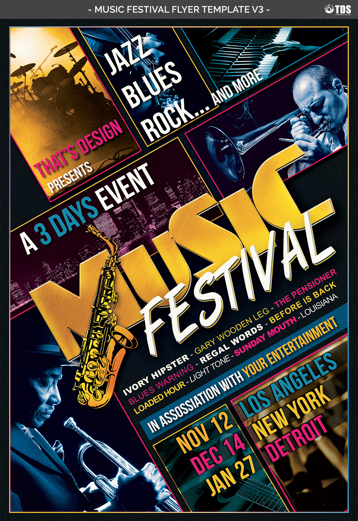 Music Festival Flyer Template V3 example image 4