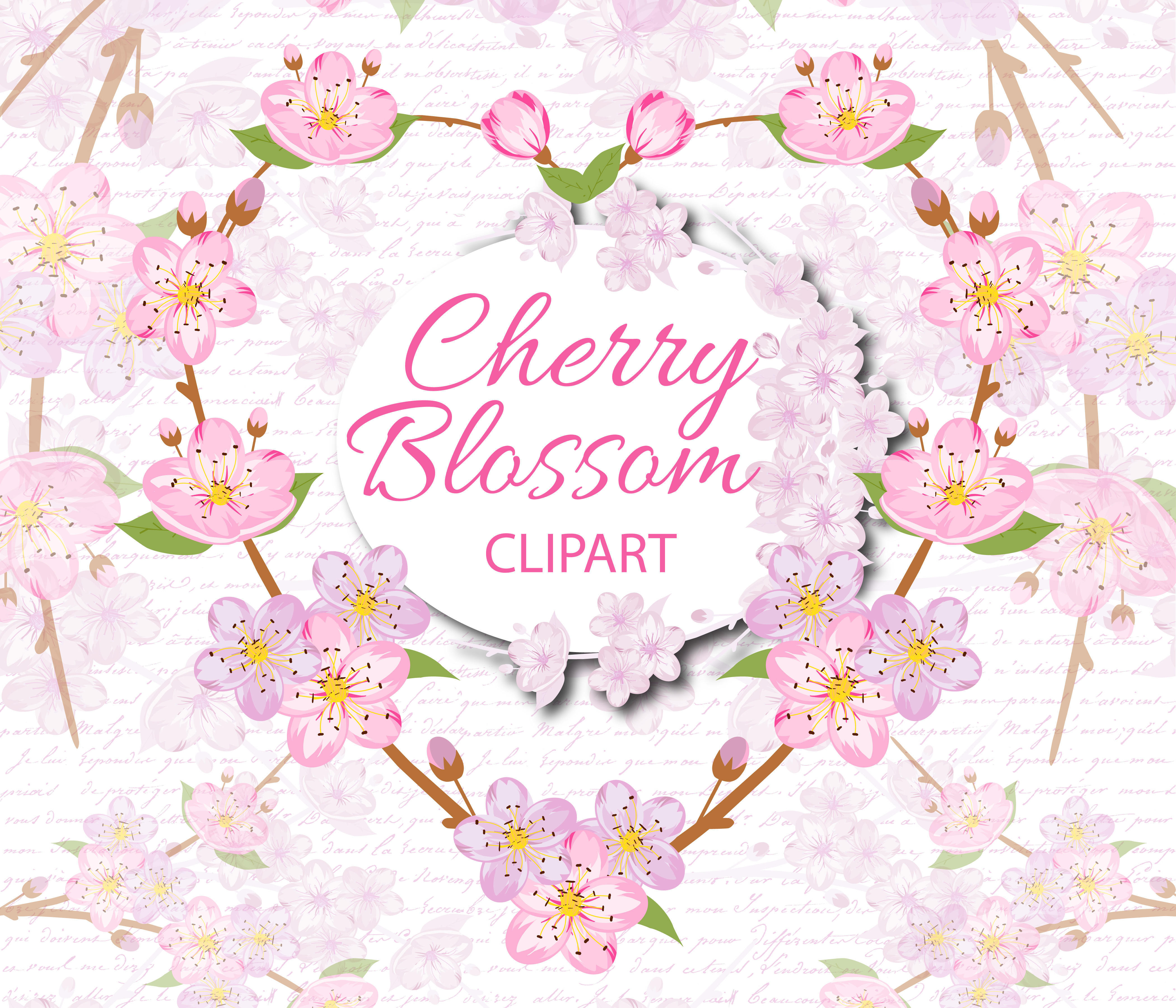 Cherry Blossom Clipart example image 1